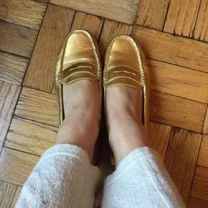 Weejuns Gold Leather Loafers